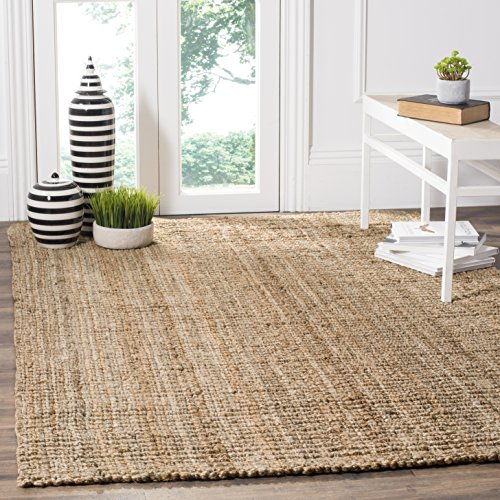 Safavieh Natural Fiber Collection NF447A Hand Woven Natural Jute Area Rug (9' x 12') (Dark Rug Rectangle Beige)