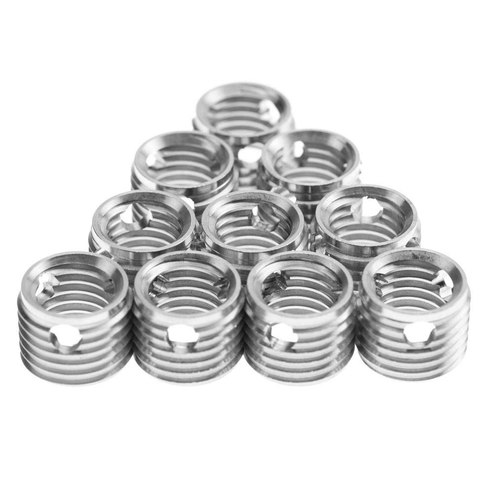 10Pcs Self Tapping Thread Inserts 307 Type Stainless Steel Thread Repair Inserts Nuts Combination Kit Set Replacement for Wood Furniture (#9) by Wal front