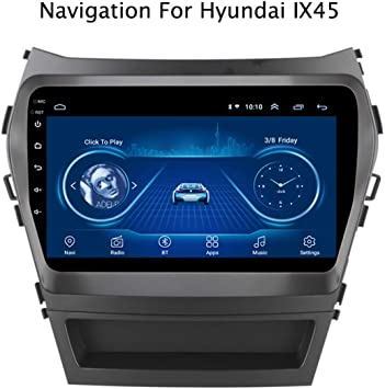 Qqhhjy Car Stereo Android 8 1 Gps Navigation 9 Player Für Hyundai Ix45 Santa Fe 2013 2017 Unterstützung Lenkradsteuerung Fm Am Dab Usb Bluetooth Schirm Mirror Link Navigation