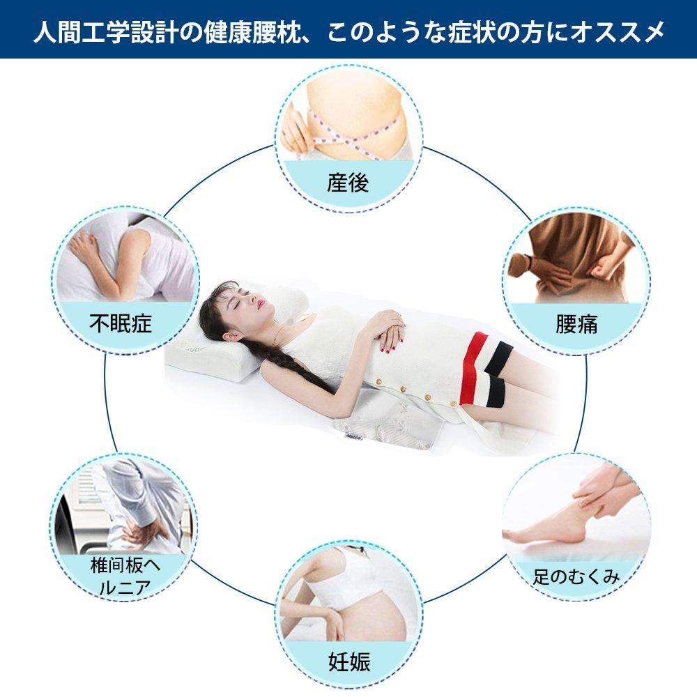 人間工学設計の腰枕