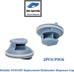 Reliable 8558307 Dishwasher Dispenser Cap. Replacement Part Fits for Whirlpool & Kenmore Dishwashers and Replaces 8539095, 1060792, 8193984, 8558310, AH973803, EA973803, PS973803, WP8558307, LP13096