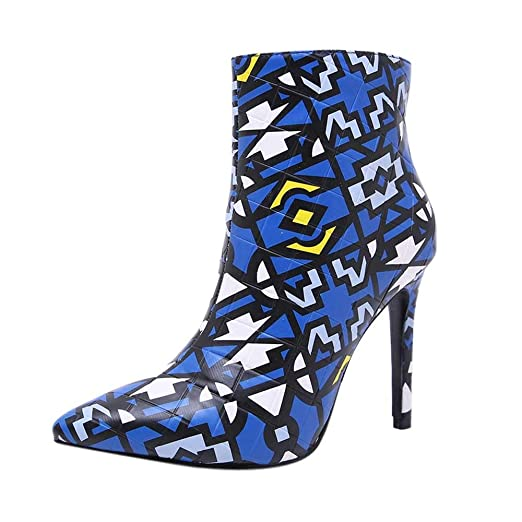 261362d66bb1c Amazon.com: Cenglings Fashion Women Plus Size Pointed Toe Boots ...