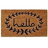 Home & More 121811729 Calico Hello Doormat, 17'' x 29'' x 0.60'', Natural/Black