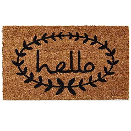 24 X 36 Natural - Calloway Mills 121812436 Calico Hello Doormat, 24