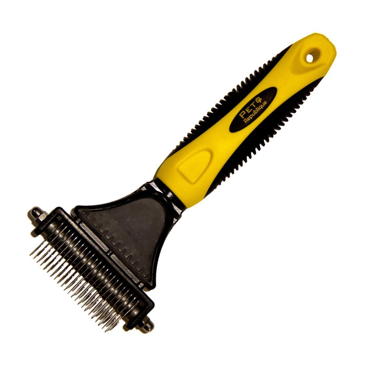 *LAUNCH SALE* Pet Republique ® Professional Dematting Comb Rake - Dual Sided 12+23 Teeth Mat Brush Splitter - for Dogs, Cats, Rabbits, Any Long Haired Breed Pets