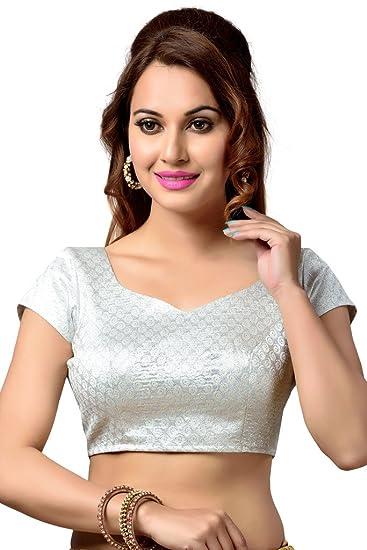 8b9b335e7ce Studio Shringaar Women s Polyester Blouse  Amazon.in  Clothing ...