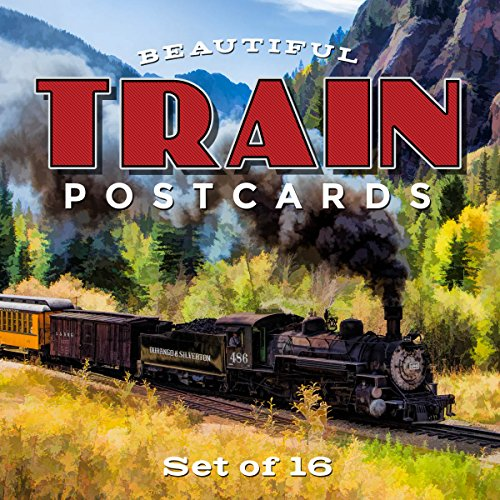 Ultimate Collection of Scenic Train Postcards | Set of 16 | 4x6