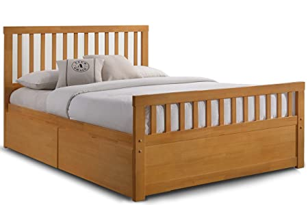 Delamere Wooden Storage Bed Frame With Drawers  Double, King Size (King 5ft,