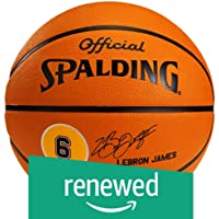 (Renewed) Spalding LeBron James Basketball, Size-7 (Brick)