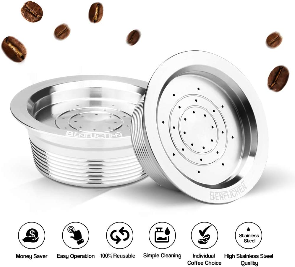 Galapara Stainless Steel Reusable Coffee Capsules Refillable Coffee Capsule Cup Pods Holder Filter Set Coffee Capsules Pods Compatible with Lavazza A Modo Mio Jolie Lavazza A Modo Mio Espria