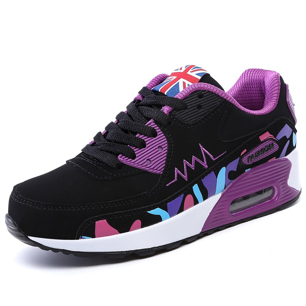 No.66 Town Women's Athletic Air Casual Walking Running Tennis Shoes Fashion Sneaker B01M024NDG (US)6|#957 Purple