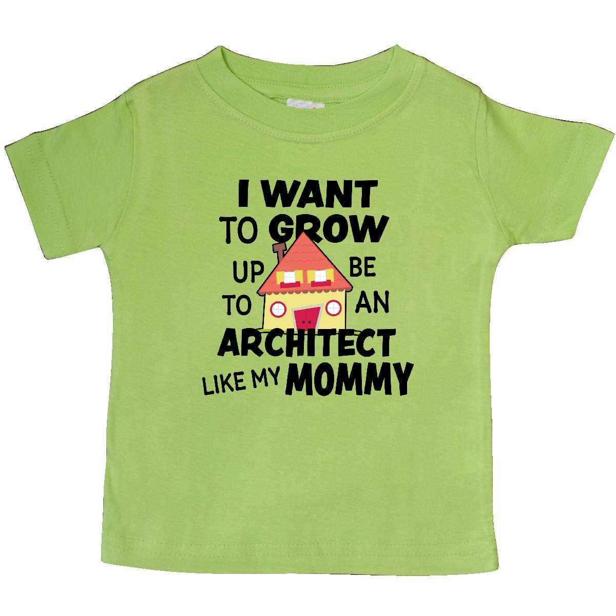 inktastic I Want to Grow Up to Be an Architect Like My Mommy Baby T-Shirt