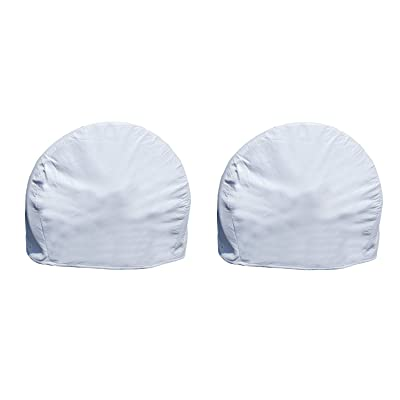 Dumble White RV Tire Covers Set of 2 for 30in to 32in Tires – Camper Wheel Covers, Wheel Protector 2-Pack: Automotive
