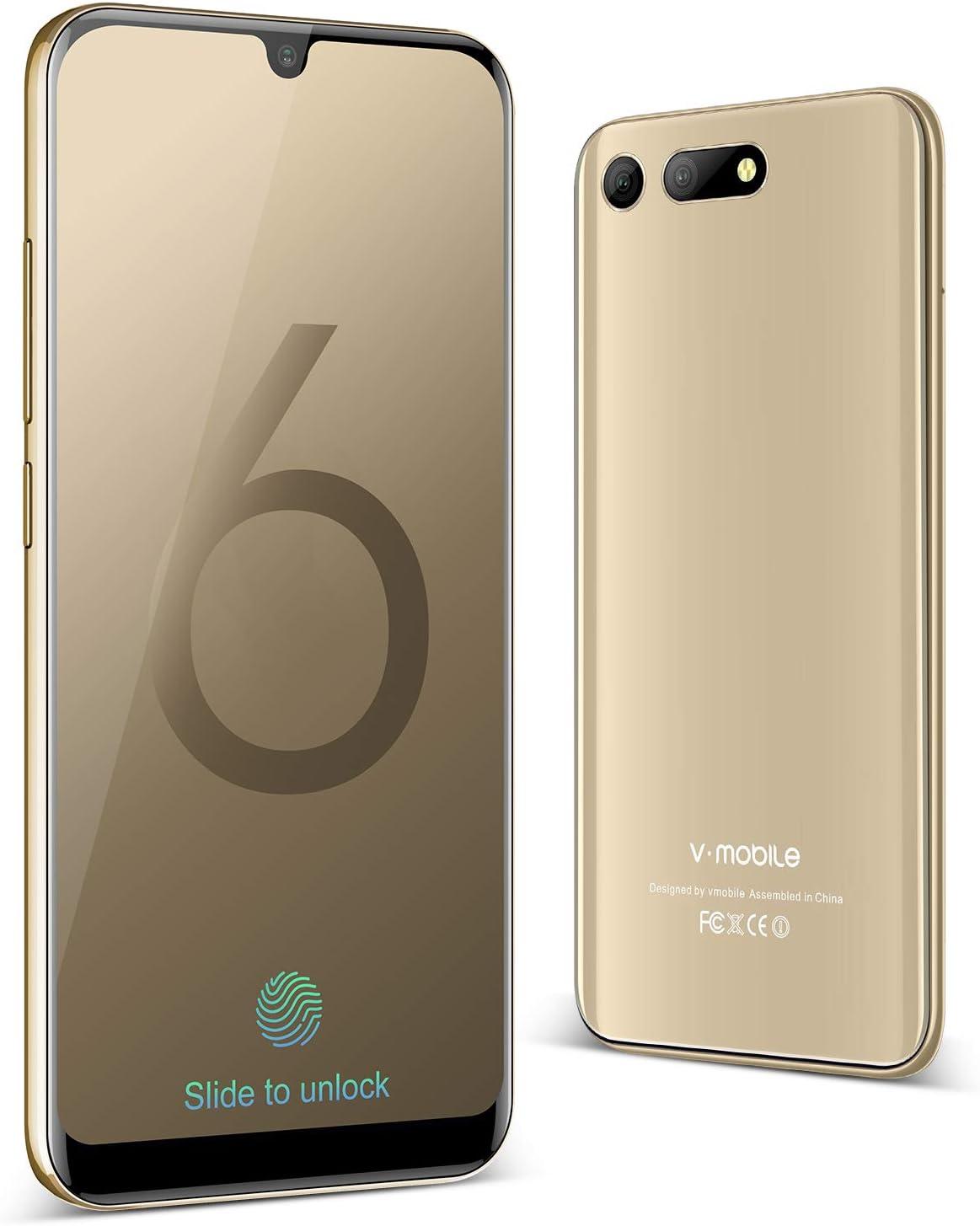 Moviles Libres Baratos 4G, VMOBILE A60, 5.7 Pulgadas 3GB RAM+32GB ROM Android 8.1 Smartphone Libres 8MP Camara 3800mAh Bateria Moviles Baratos y buenos (Oro): Amazon.es: Electrónica