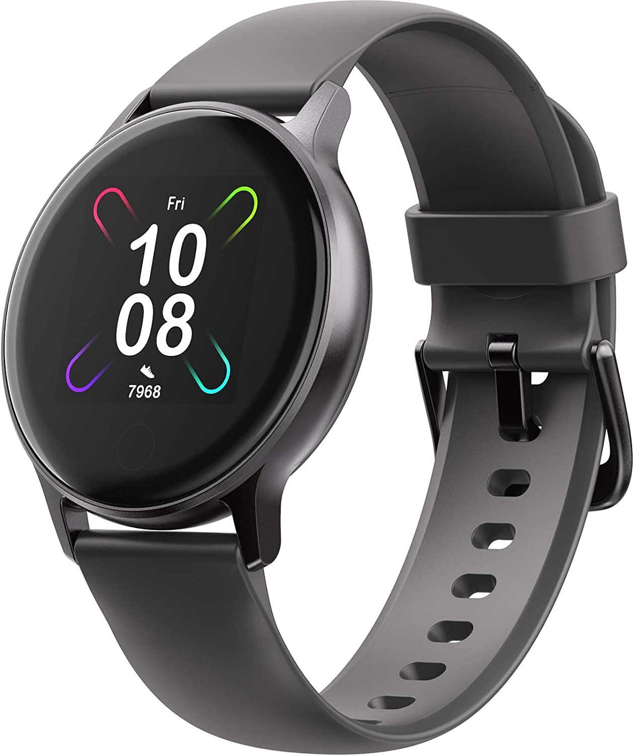 Smart Watch, UMIDIGI Smartwatch with Blood Oxygen Saturation and Heart Rate Monitor, 5ATM Waterproof Smart Watch for Android Phones Compatible with iPhone Samsung.