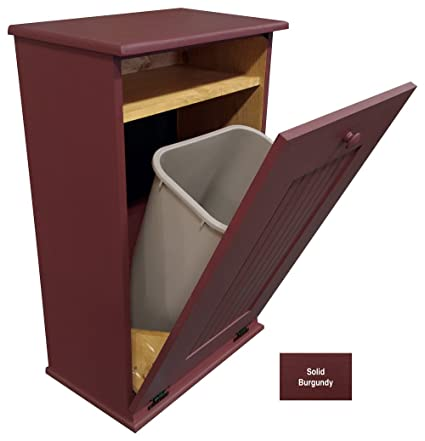 Merveilleux Sawdust City Wood Tilt Out Garbage Cabinet (Solid Burgundy)