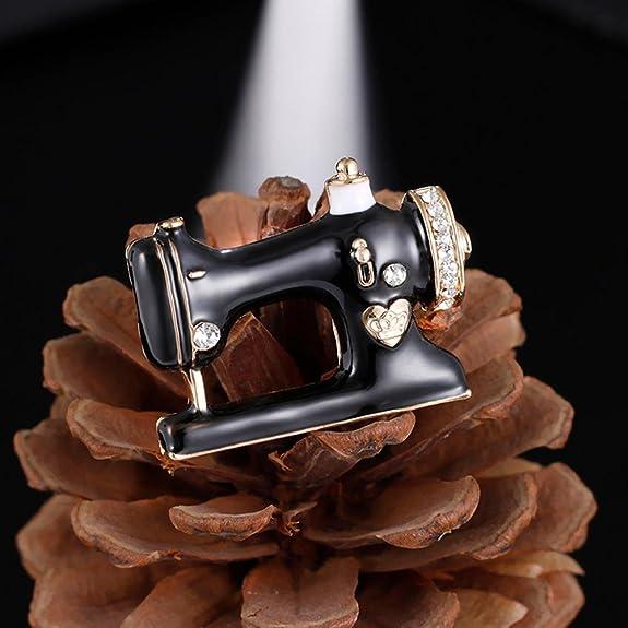 Amazon.com: HighPlus Black Enamel Jewelry Hijab Pin Women Girls Sewing Machine Brooch: Jewelry