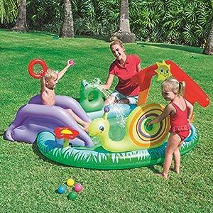 ZHENGRUI Centro De Juegos Piscina Infantil Seguro Fácil De Limpiar Parque Acuático para Niños Piscinas Hinchables sobre El Suelo para Al Aire Libre Jardín Patio Trasero