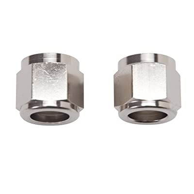 Russell 660571 Endura -6AN Tube Nut Fittings - Pack of 2: Automotive