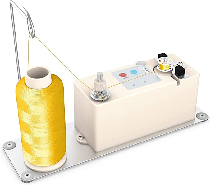 Embroidery Thread Sewing Machine Assembly Nannday Electric Bobbin Winder Automatic Industrial String Bobbin Winder for Sewing Weaving Knitting Wire Circular Rotating Tool