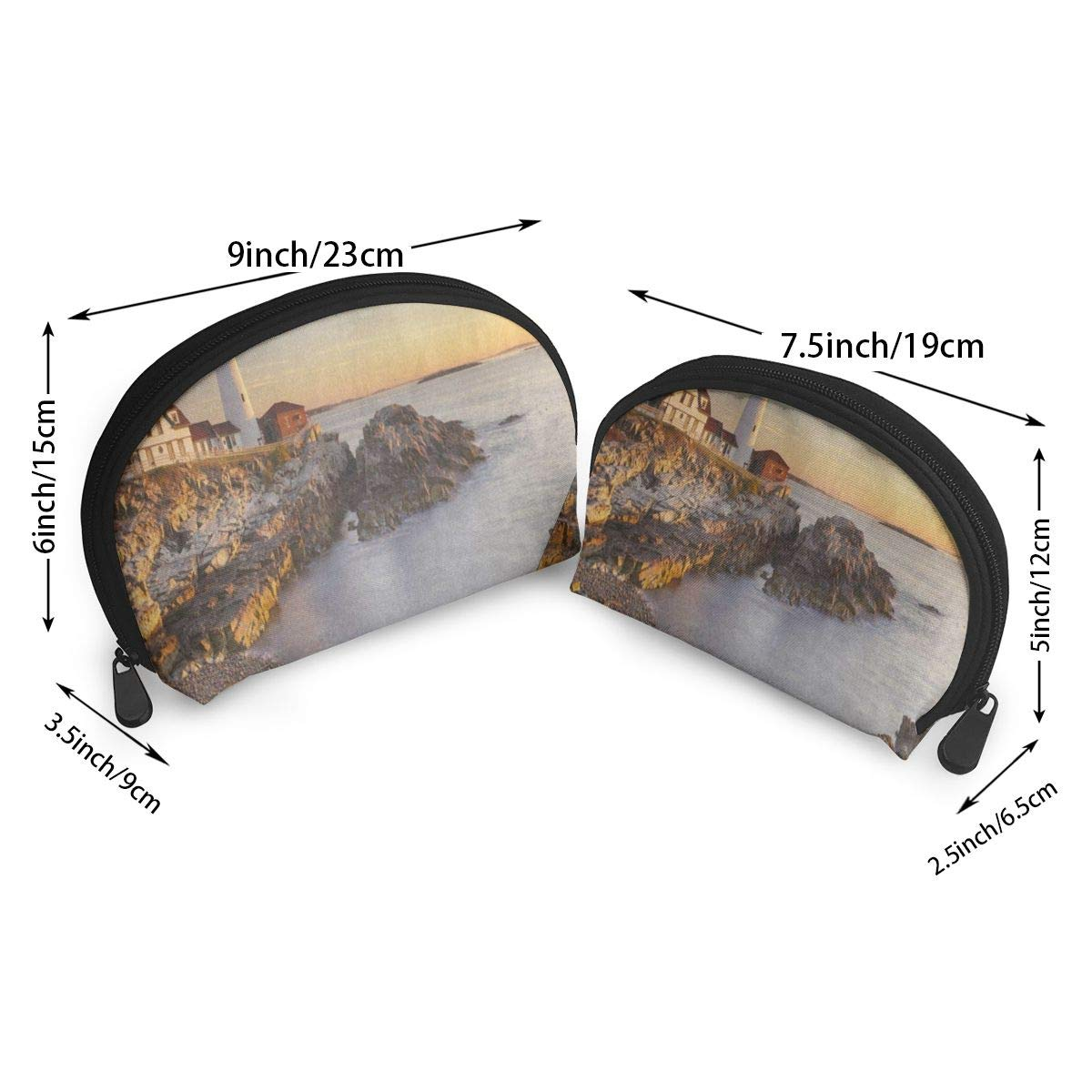Travel Bags Retro Landscape Lighthouse Coin Clutch Pouch Bag For Women//Girls