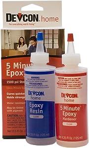 Devcon Epoxy, 5 Minute Epoxy, 2 Bottles Net 8.5 fl oz (250ml)
