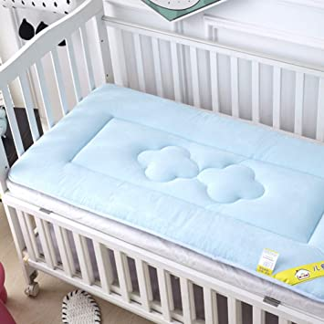 Premium Quality Cot Bed Fitted Sheet,100/%Cotton-Size:70x140cm Single Pack, Blue