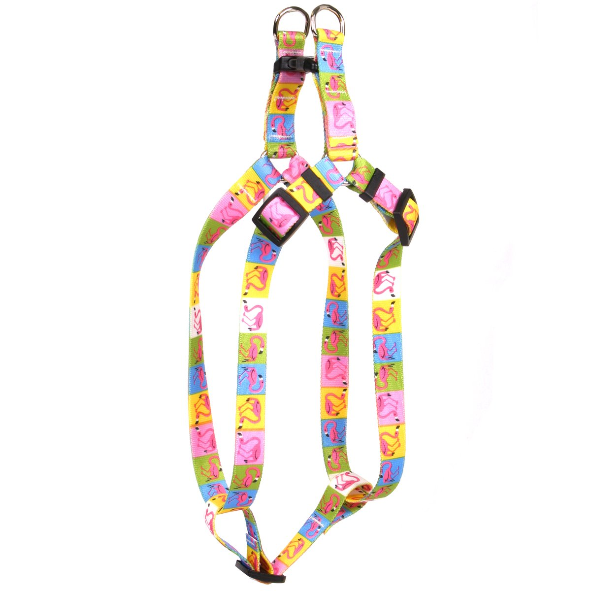 Yellow Dog Design Pink Flamingo Step-in Dog Harness, X-Small-3/8 Wide and fits Chest of 4.5 to 9''