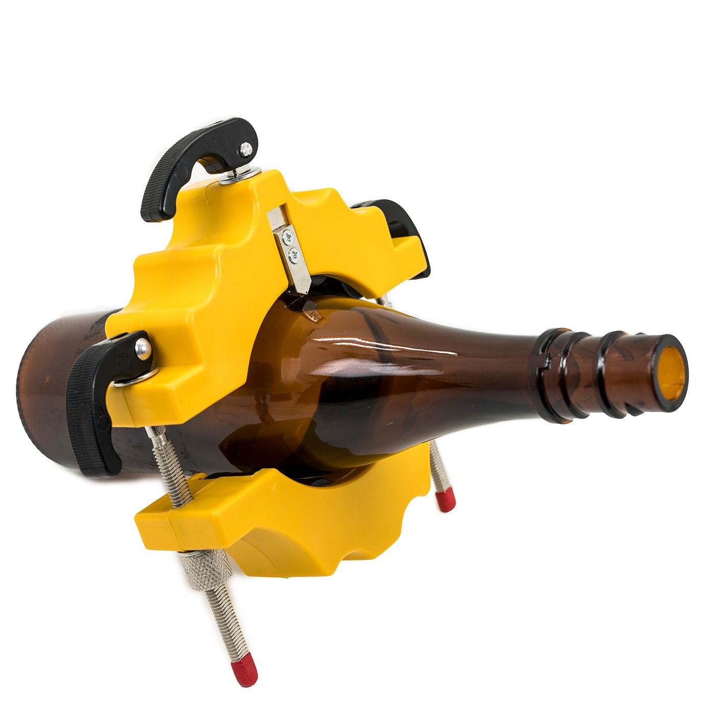 Jaybva Taglierina per bottiglie in vetro, vincitrice del premio Etchor Tool 2018, colore giallo