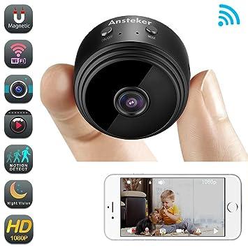 Mini Kamera,Ansteker WiFi Überwachungskamera Drahtloses HD Kamera ...
