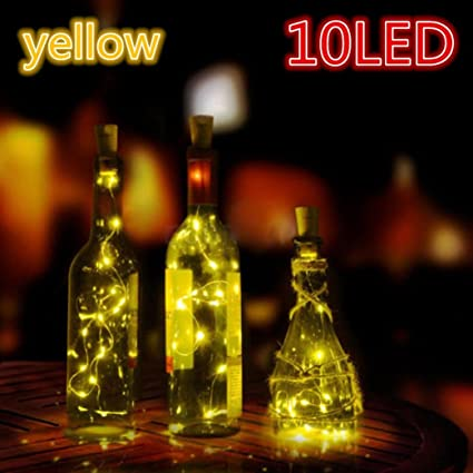 Guirnalda de luces LED, xshuai® 4pcs solar botella de vino forma de corcho con