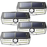 Litom Solar Lights Outdoor, 4th Generation 30 LED Solar Motion Sensor Lights with IP67 Waterproof and Exclusive Wide Angle, Super Bright Security Solar Wall Lights for Door, Garage, Yard, RV(4 Pack)
