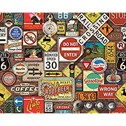 White Mountain Cross-Country Rusty Road Trip Signs 1000 Piece Jigsaw Puzzle