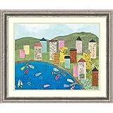 Framed Art Print 'Coastal Harbor III' by Courtney Prahl