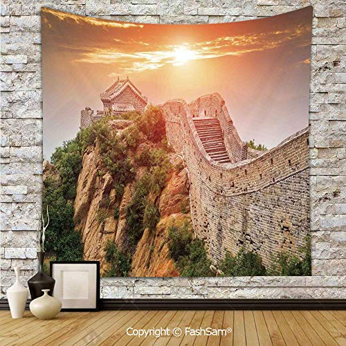 FashSam Polyester Tapestry Wall Sunrise Horizon on Traditional Stone Building Empire Culture Design Hanging Printed Home Decor(W59xL90)]()