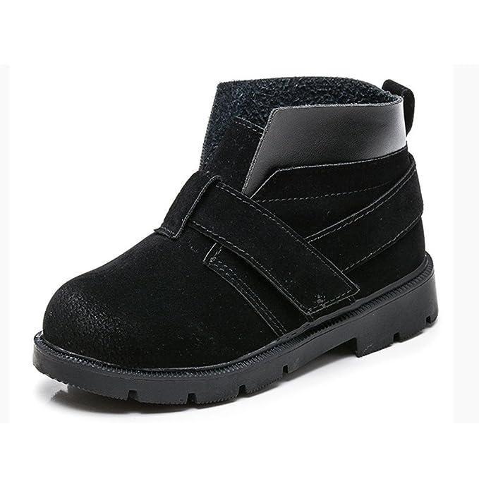 YanHoo Zapatos para niños Hombres y Mujeres bebé Viejo Magia Terciopelo Terciopelo Botines Niños Moda Niños Niñas Zapatillas de Deporte Invierno Grueso ...