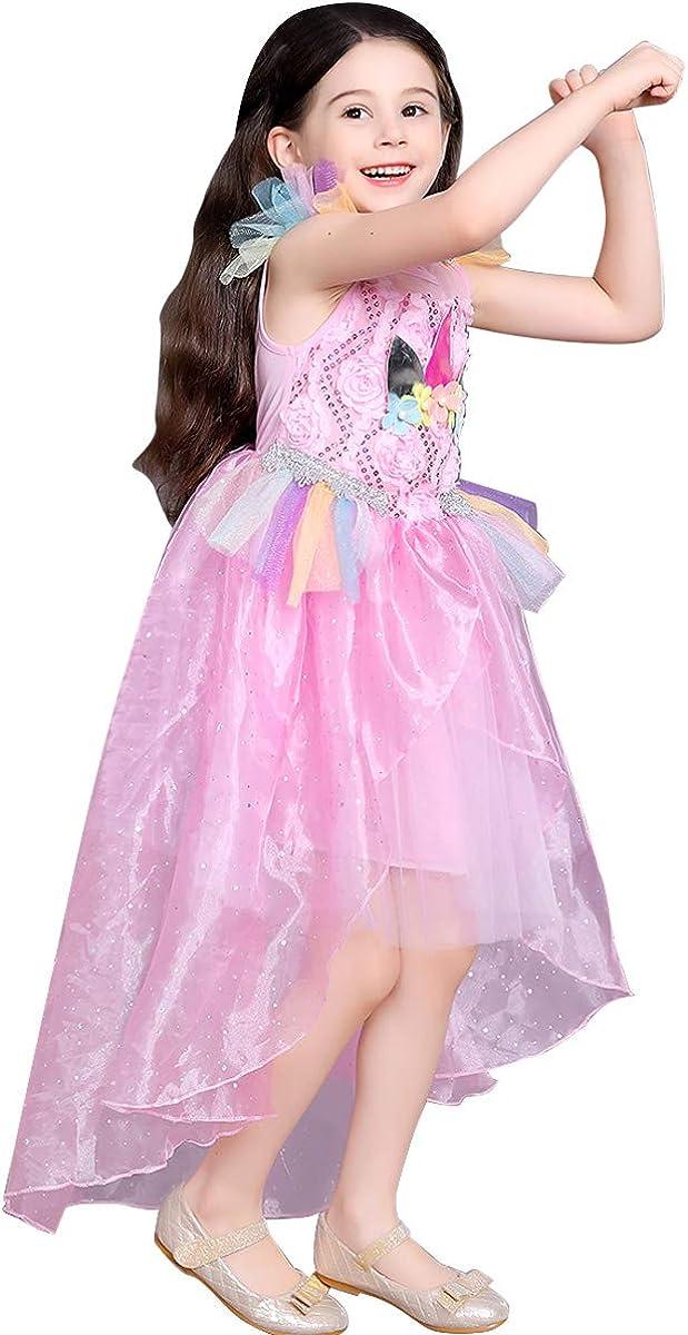 loel Girls Unicorn Costume Dress Little Pony Cosplay Dress up