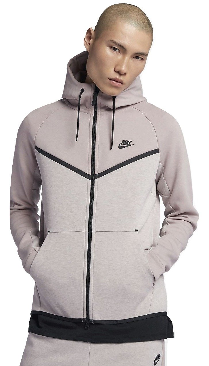 NIKE Mens Sportswear Tech Fleece Windrunner Hooded (Particle Rose/Particle Rose/Black, 2X-Large)