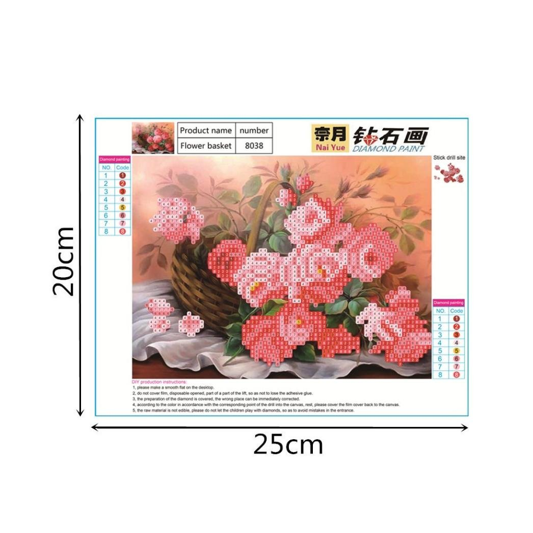 A Home Wall Decor Blue Rose 5D DIY Diamond Painting Embroidery Paintings Rhinestone Pasted Cross Stitch Kit ❤️ ZYEE