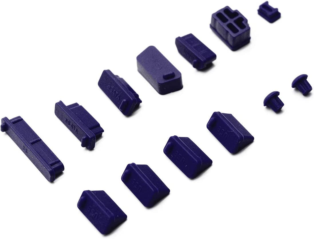 Antrader General Silicone Anti Dust Stopper/Plug-13 Piece Set, Purple