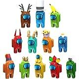 LGCTION 12 peças Amg UsToy, lindos brinquedos com olhos salientes, boneca Amog Us Game Cute Doll, para presentes, fãs de jogo