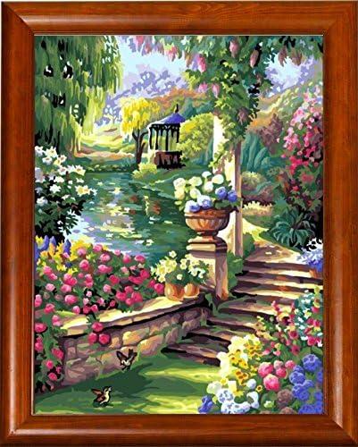 Stickbild Colored Garden Fredo Tourist T078R3040 ca inkl Gobelin Stickpackung Rahmen und Sticktwist 30 x 40 cm