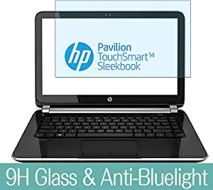 Synvy Anti Blue Light Tempered Glass Screen Protector for HP Pavilion TouchSmart 14-f000 / f048ca / f023cl / f027cl 14