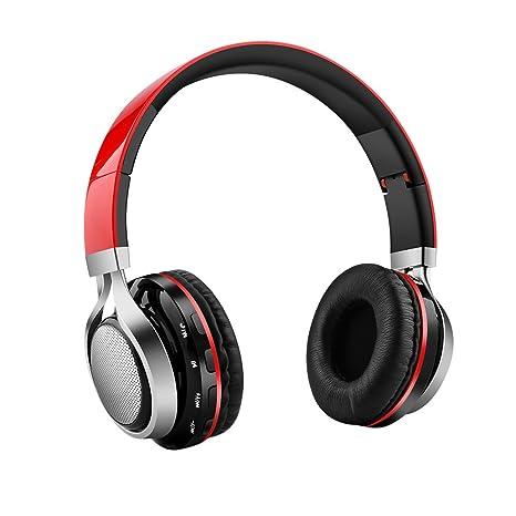 Aita BT816 Auriculares Bluetooth de Diadema Plegable, Cascos Estéreo con luz LED, radioFM,