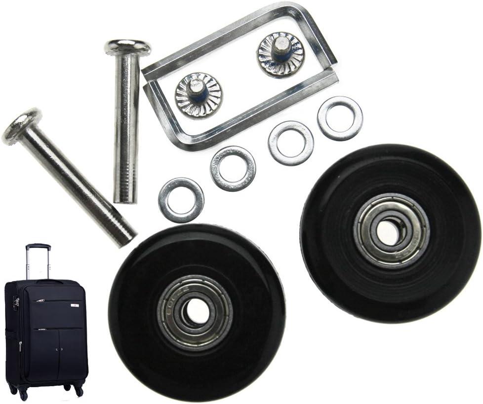 Micro Trader - Kit de reparación de Ruedas para Maletas (2 Pares, 40 mm)