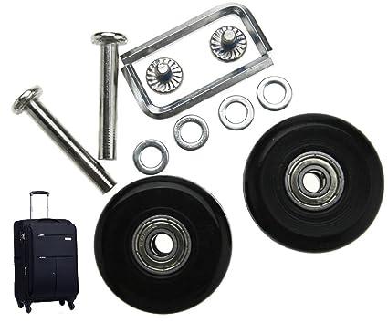 Micro Trader Juego de reparación de ejes de repuesto para maleta de equipaje, 40 mm, 2 unidades
