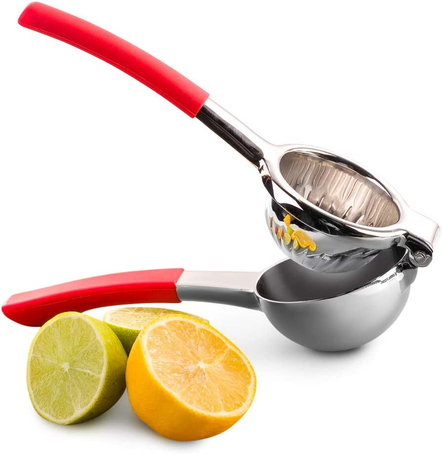 Top Rated Bellemain Premium Quality Stainless Steel Lemon Squeezer with Silicone Handles: Kitchen & Dining