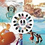 CIOR Fantiny Kids Water Shoes Boys Girls Swim Shoes Quick-Dry Barefoot Aqua Shoes Socks for Beach Pool Surfing Yoga,U118SSX008,Crab Blue,28.29