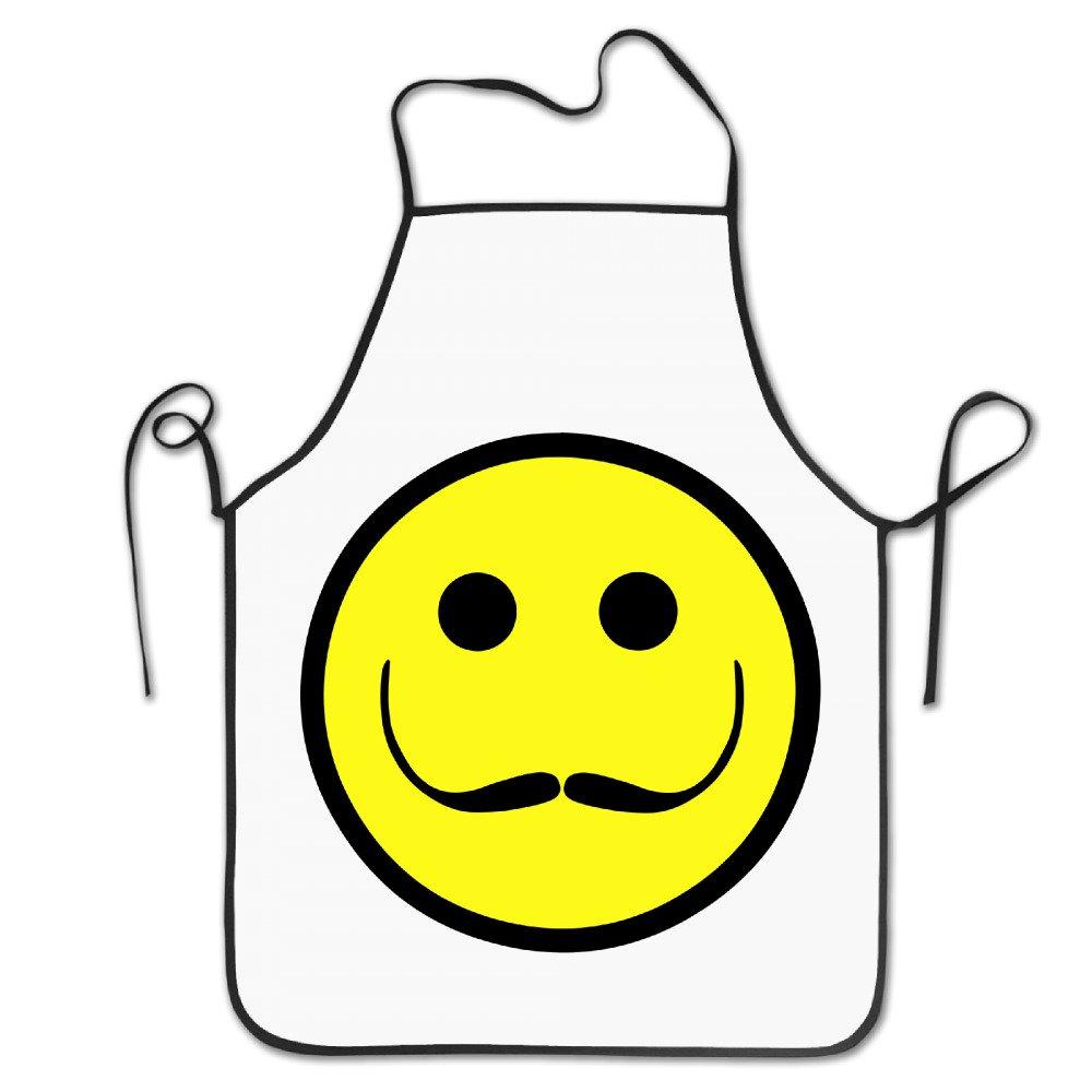 ファッションキッチンシェフポリエステルエプロンレディースSalvador Dali Smile Face With MustacheポリエステルBaking快適大人ポリエステルエプロンBibsギフト   B07359M3WK