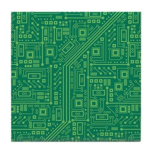 CafePress - Green Circuit Board - Tile Coaster, Drink Coaster, Small Trivet